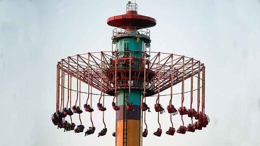 windseeker ride stuck in air | just b.CAUSE