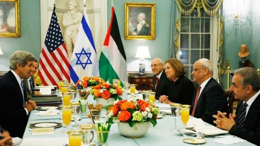 Israeli Palestinian Negotiators Set Goal Of Peace Deal In
