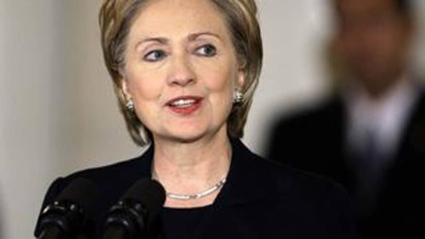 Nov. 21, 2008: Hillary Clinton, speaking during a memorial ceremony in Harrisburg, Pa., has accepted President-elect Obama's offer of the job of secretary of state. (AP)