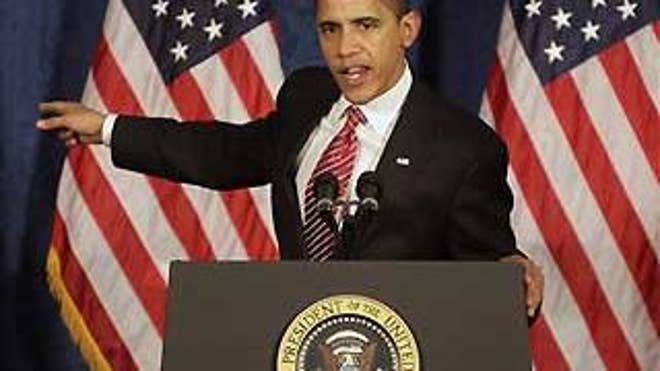 President Obama speaks to the House Democratic Issues Conference Thursday in Williamsburg, Va. (AP Photo)