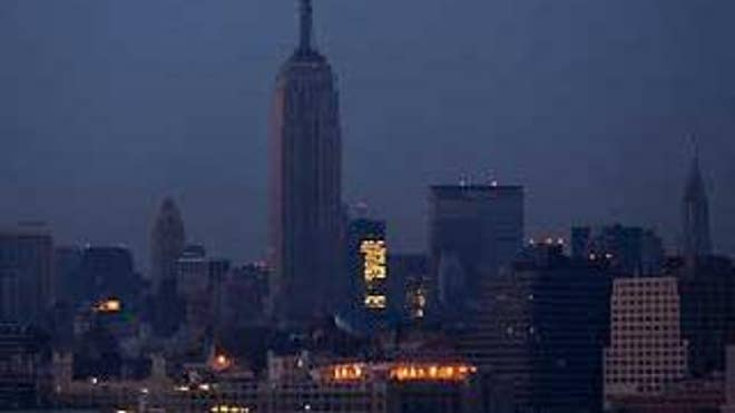 The Empire State Building and midtown New York City are shown during the 2003 blackout. (AP Photo)
