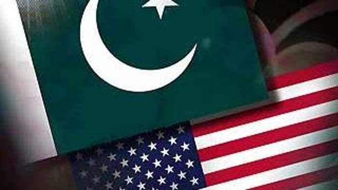 Pakistan and the U.S. flags