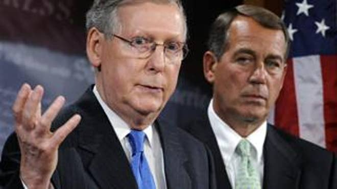 Senate Minority Leader Mitch McConnell and House Minority Leader John Boehner of Ohio.
