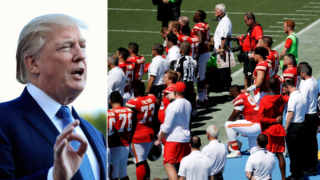 Trump: Outrage over kneeling NFL players not about race