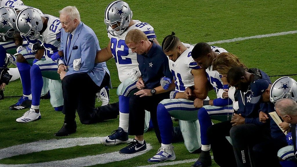 Trump calls for ban on anthem protests, blasts Dallas Cowboys for kneeling