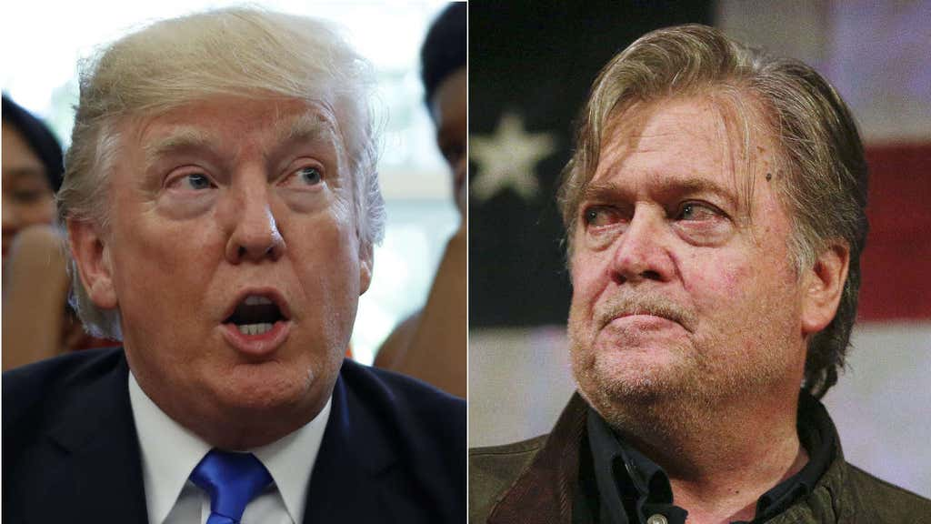 Trump tweets support for Strange, as Bannon pitches for Moore