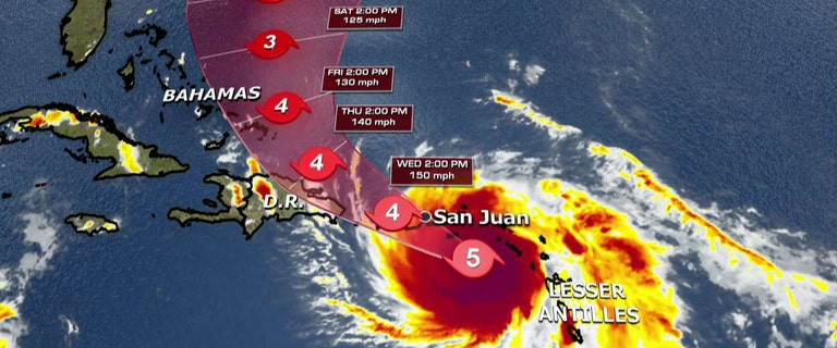 Hurricane Maria takes aim at Puerto Rico, US Virgin Islands as Category 5 storm intensifies