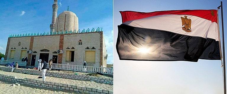More than 100 dead as Islamist militants attack Egyptian mosque during Friday prayers