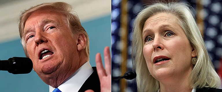 Trump rips 'flunky' Gillibrand after she demands he resign over sexual harassment claims