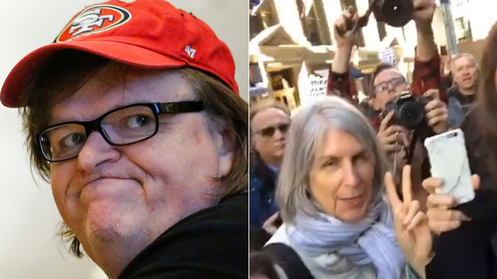 Michael Moore took part in post-election, anti-Trump rally secretly organized by Moscow