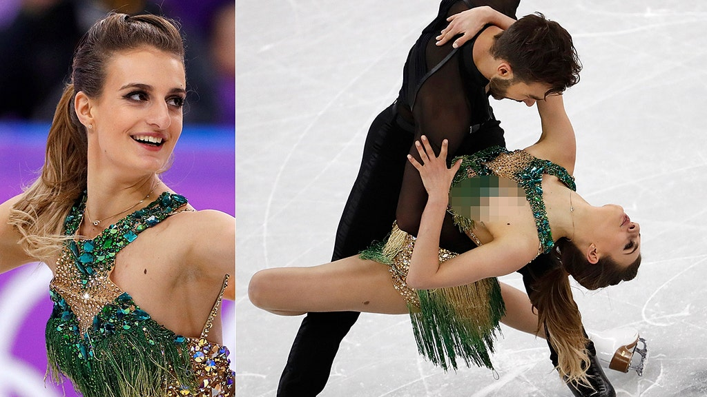 French ice dancer has nightmare slip-up during Winter Olympics