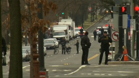 White House on lockdown after vehicle hits security barrier