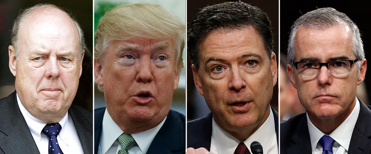 Trump unloads on fired FBI officials McCabe and Comey, and former intel officials hit back