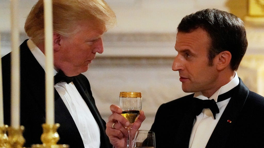 Trump, Macron honor 'joint history' between US, France at state dinner