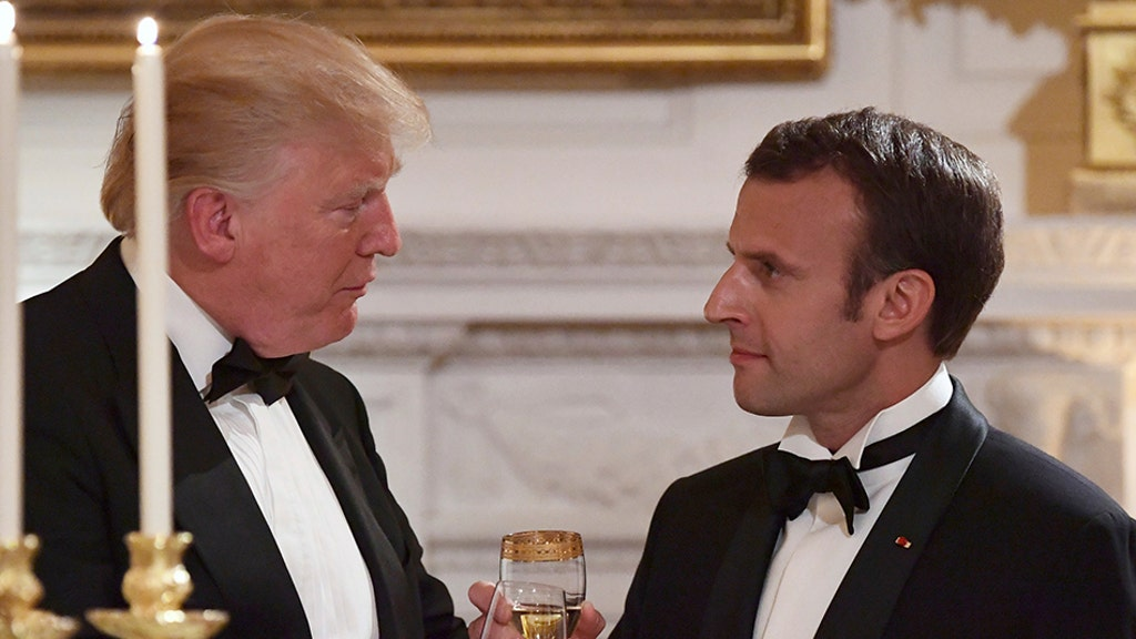 Trump, Macron toast 'joint history' at lavish White House state dinner