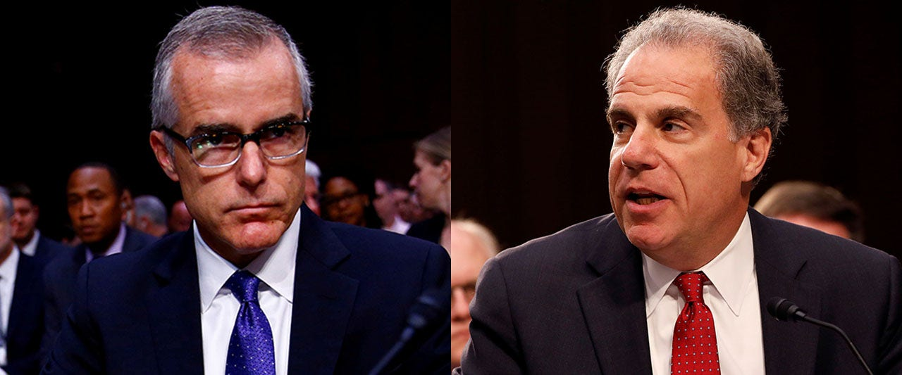 McCabe leaked to boost himself, lied about it to Comey and investigators: DOJ watchdog's report