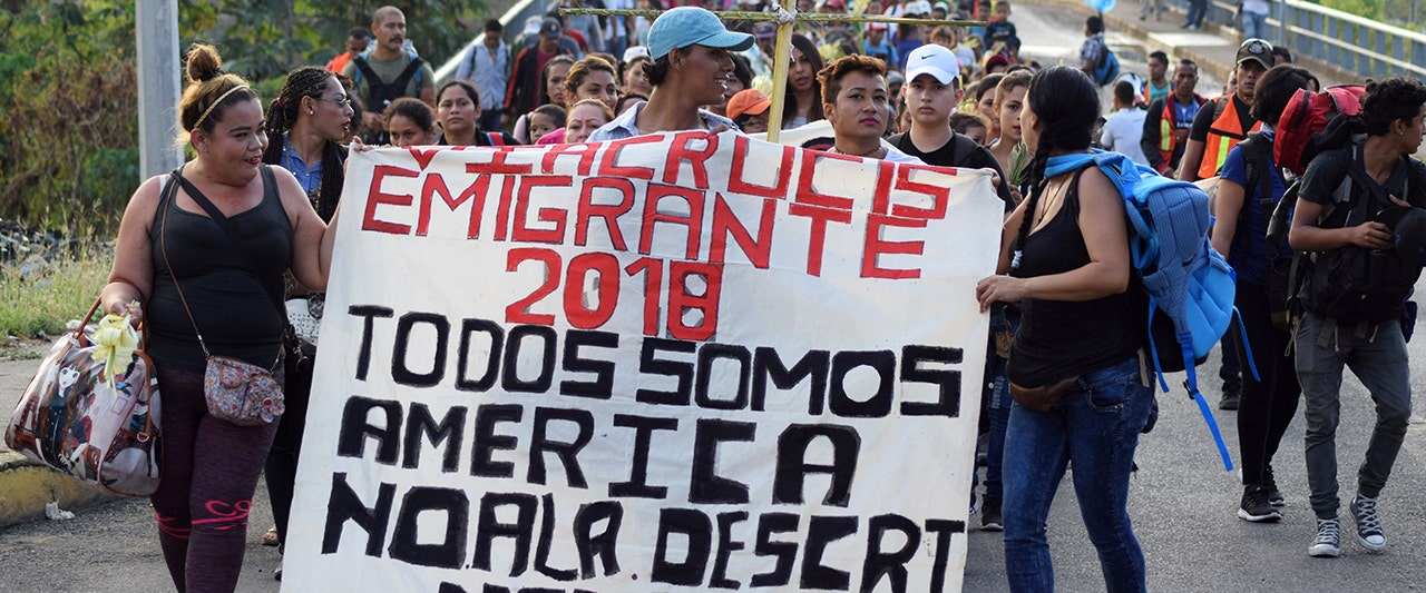 Trump calls for 'tough' immigration reform as caravan with Central Americans heads towards US