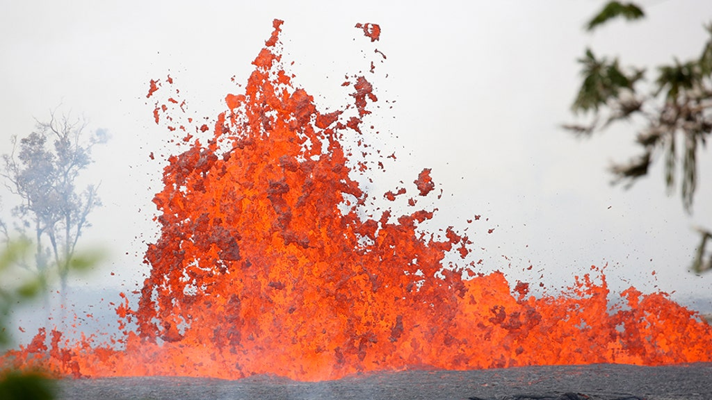 Hawaii volcano spatters lava, shattering man's leg in first known injury