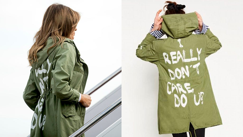 President Trump: Melania's 'I really don't care' jacket is 'Fake News Media' slam
