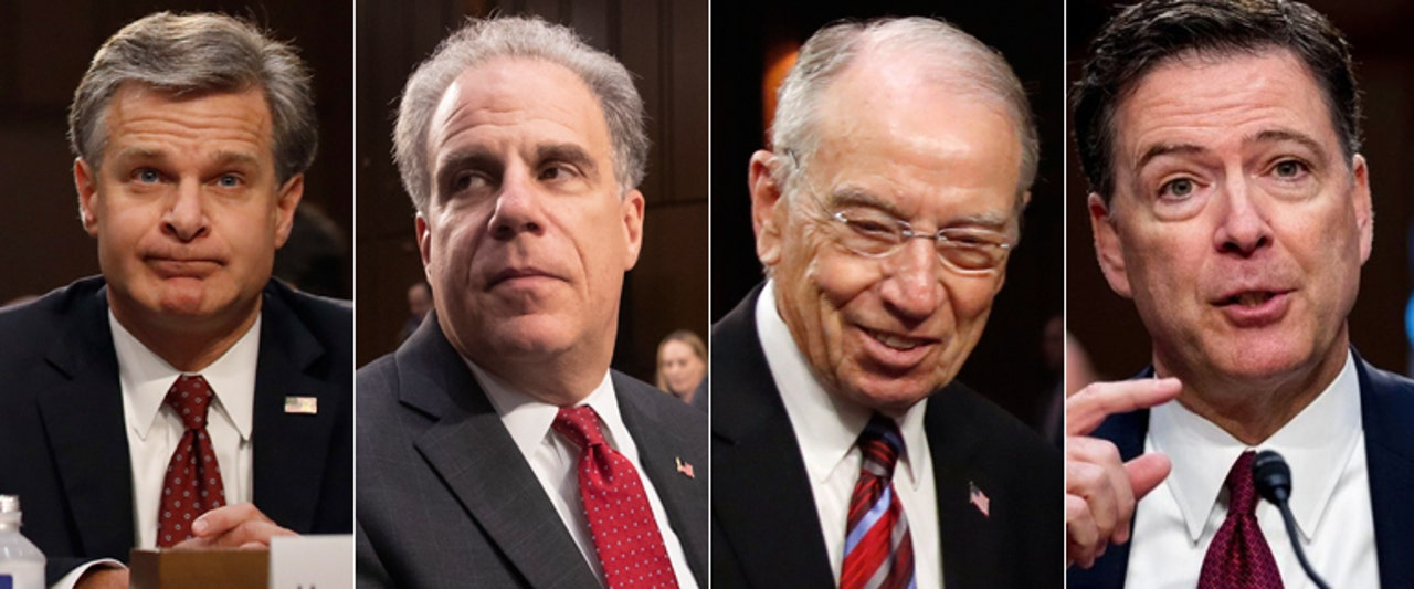 Grassley calls for probe of fired FBI boss' email use in fiery hearing on DOJ watchdog report
