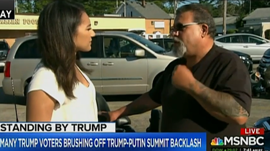 Trump voters tell MSNBC they were not swayed by remarks at Putin summit