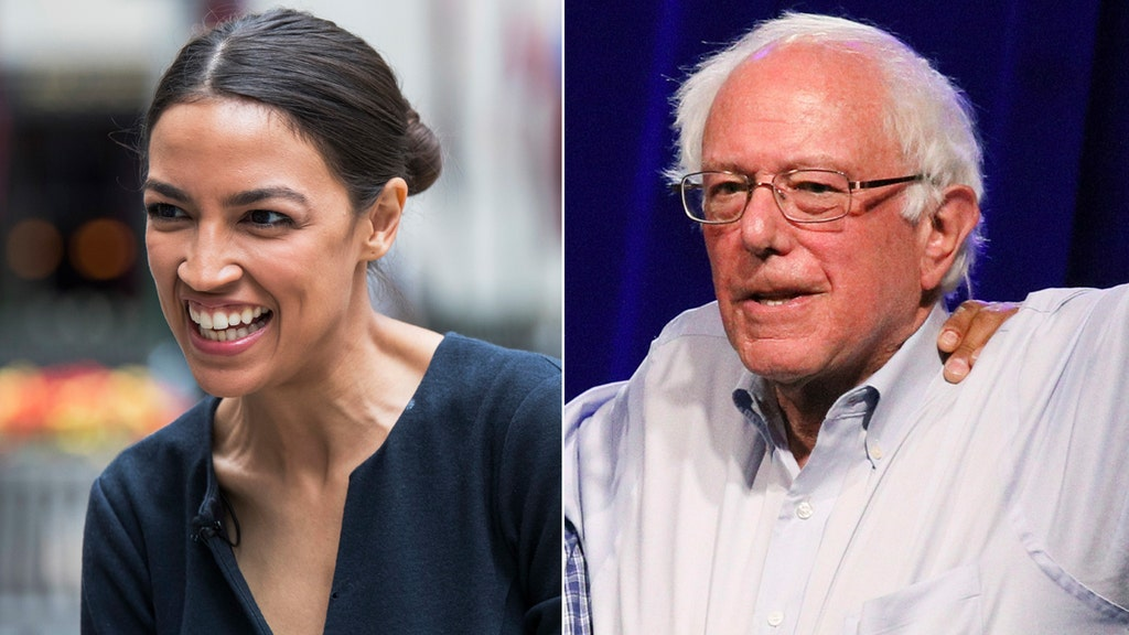 Dem rift feared as upstart Ocasio-Cortez hits campaign trail with Bernie Sanders