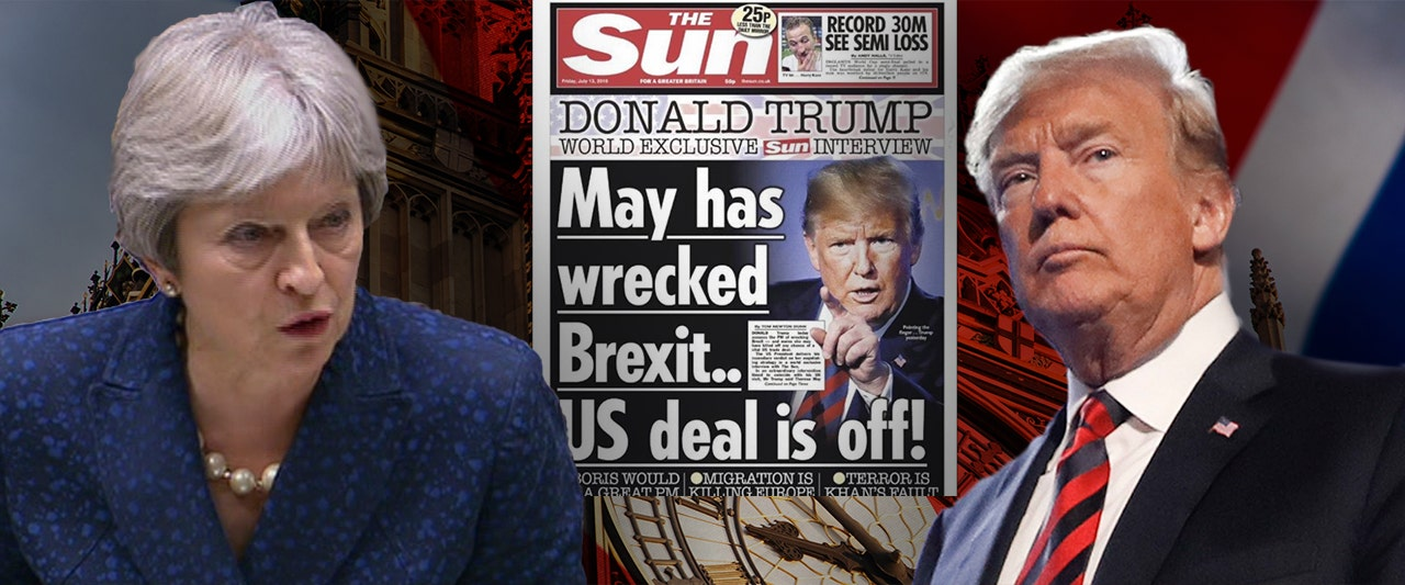 Trump says in bombshell interview with The Sun that May's Brexit bungling will sink US trade deal