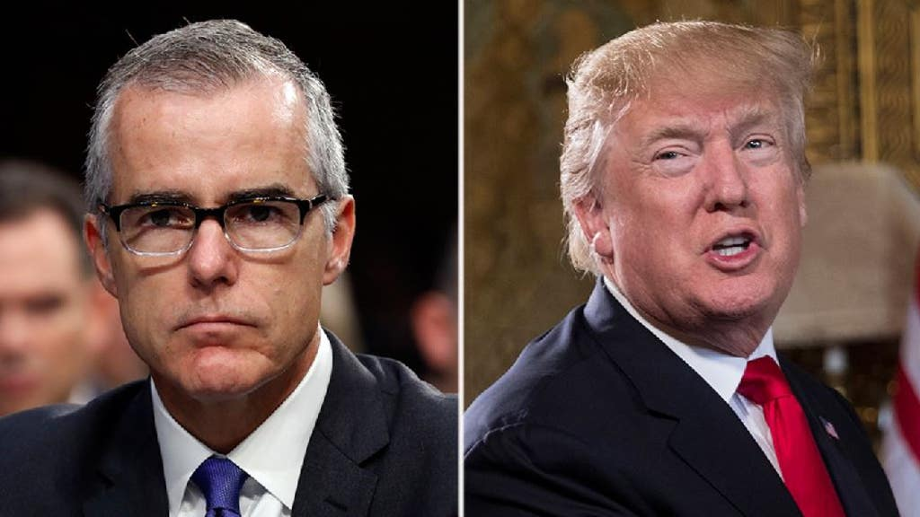 Trump threatens to 'get involved' in fight to obtain McCabe text messages