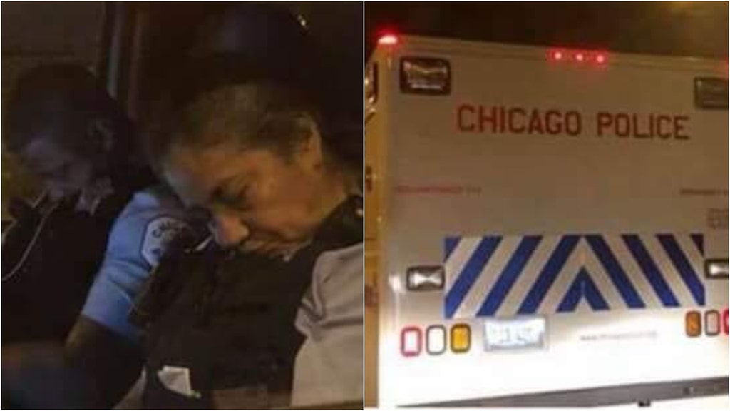 Pic of snoozing Chicago cops goes viral after another bloody weekend