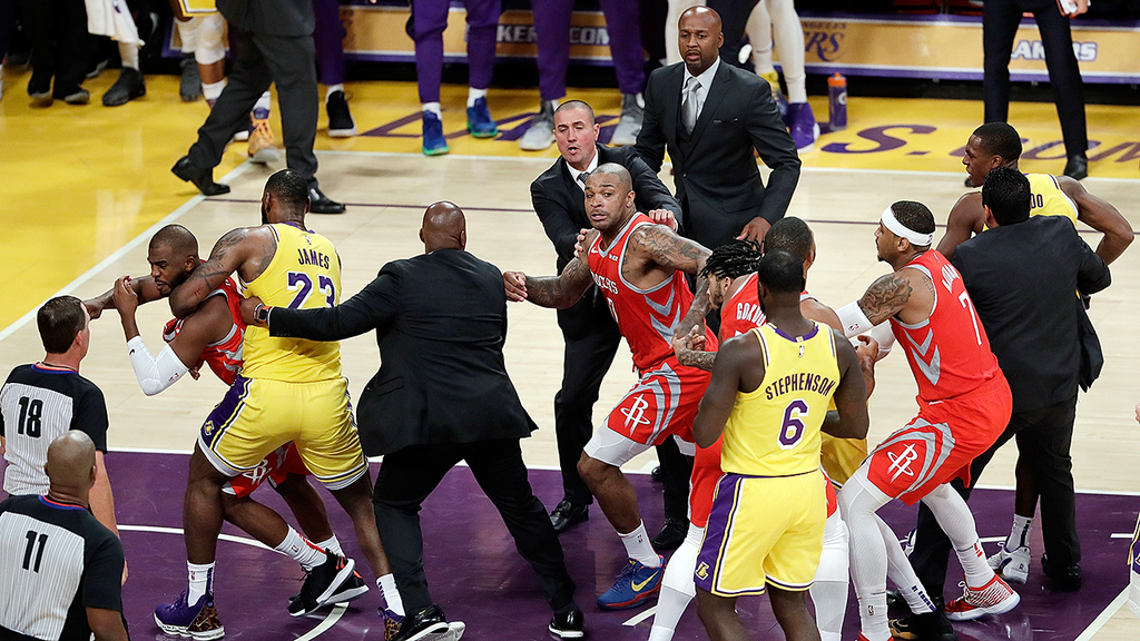 WATCH: NBA megastar's home debut with new team marred by wild brawl
