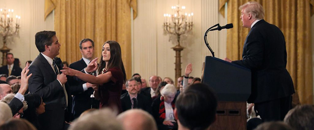 CNN's Acosta has press pass suspended by White House after  contentious back-and-forth with Trump