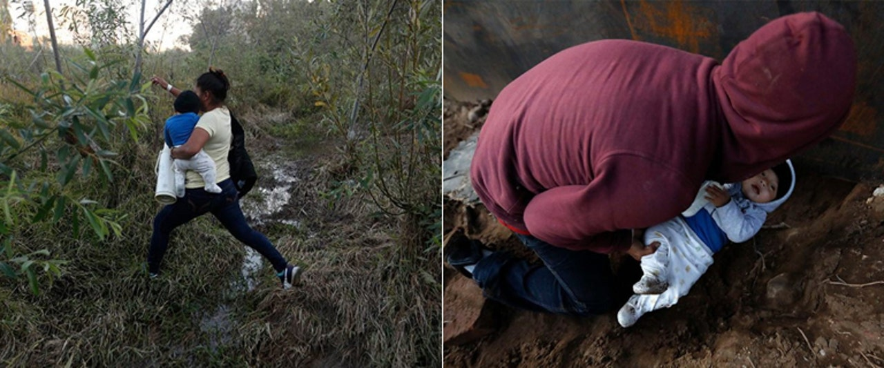 Eight-month-old boy pushed under hole in US-Mexico wall in latest sign of migrant desperation