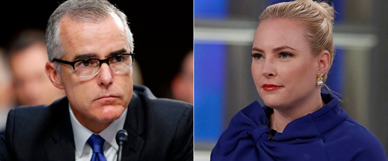 Meghan McCain makes ex-FBI boss Andrew McCabe uncomfortable with this 'View' question
