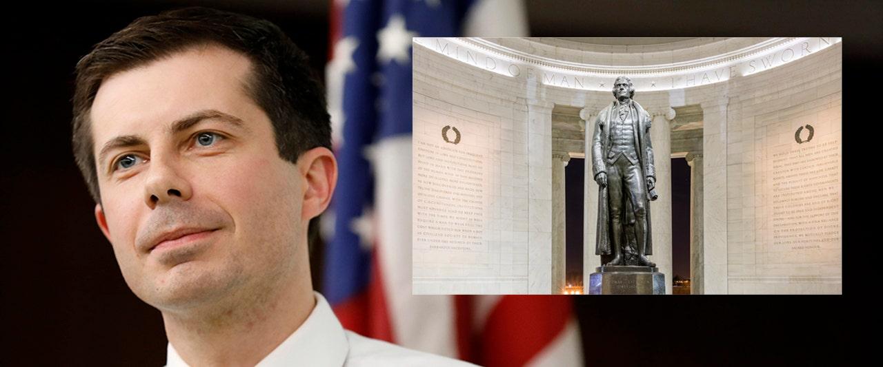 Buttigieg backs idea of erasing this president's name, offers tepid defense of Founding Father