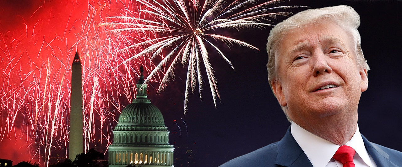 Dems fume as president makes plans for grand patriotic celebration of nation's founding