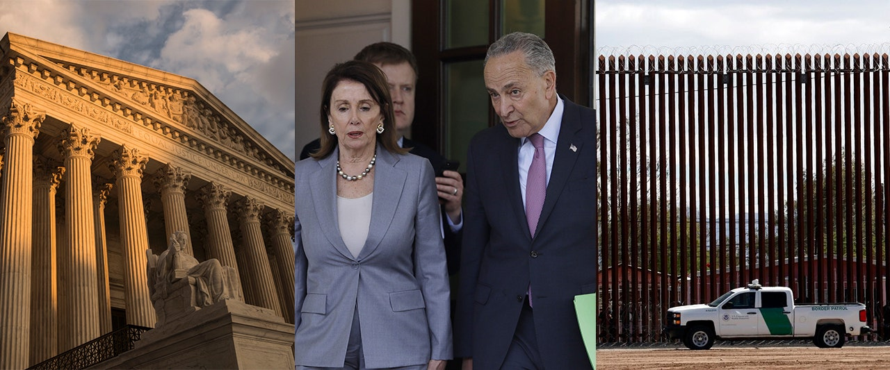 Pelosi, Schumer reel as Supreme Court sides with Trump on $2.5B border plan