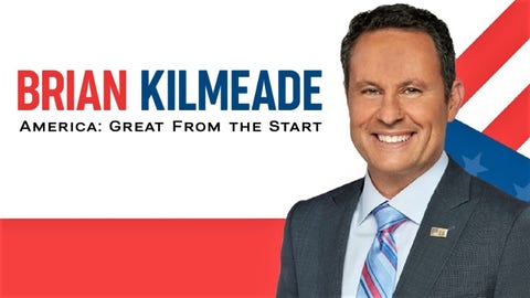 Brian Kilmeade steps off the curvy couch to bring his humor and commentary to the stage for his live show