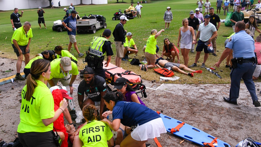 6 injured after lightning strike at PGA TOUR Championship