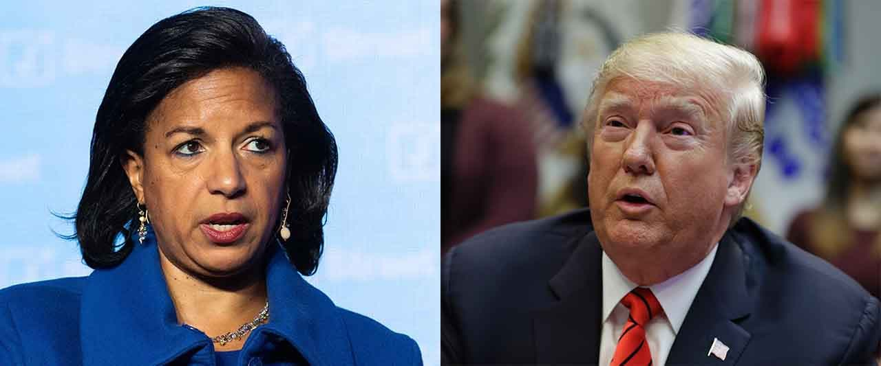 Trump calls Rice 'disaster' after Syria remarks, she alleges 'totally gross' hug from prez