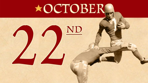 On this day, the first pro-football game was shown on television