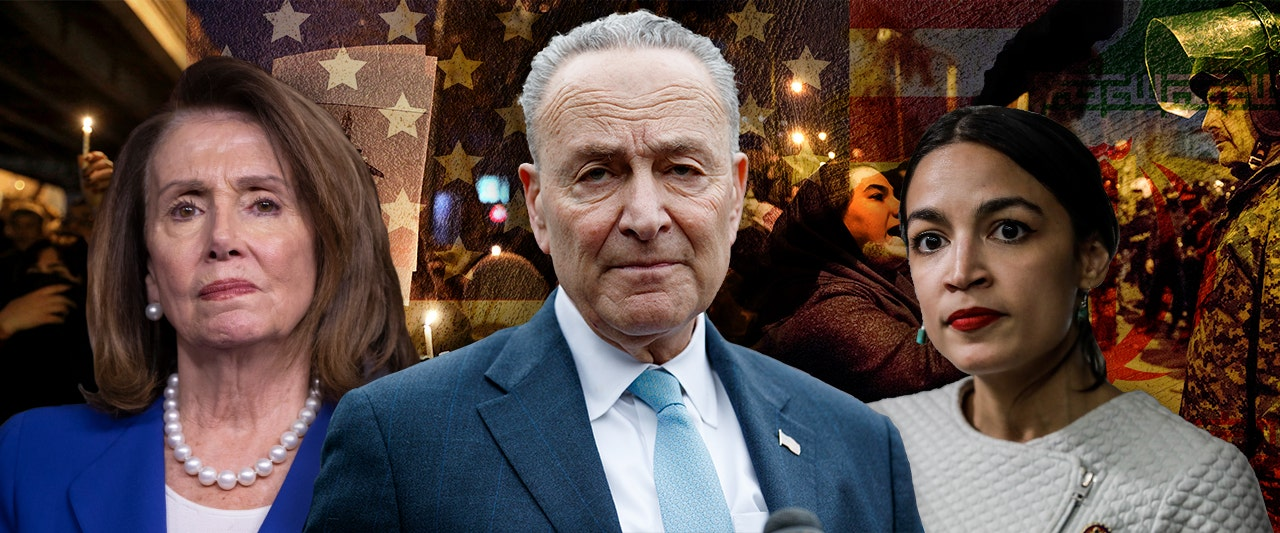 Key Democrats go silent as Iran street protests shift from President Trump to regime