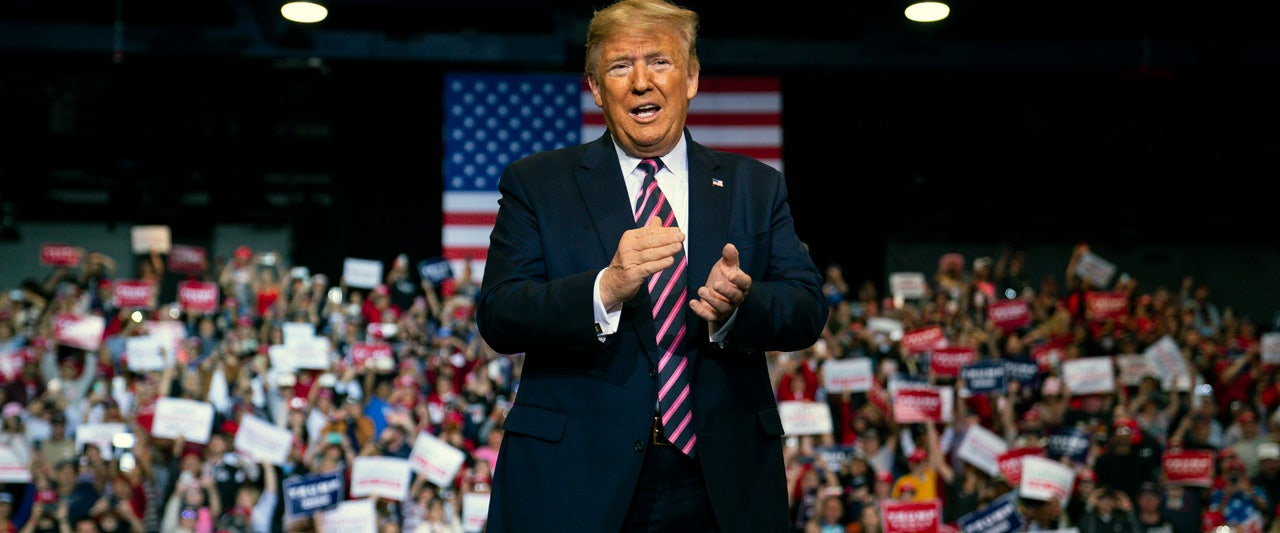 Trump invokes 'Miracle on Ice', predicts Nevada caucus issues for 'crazy' Dems at Sin City rally