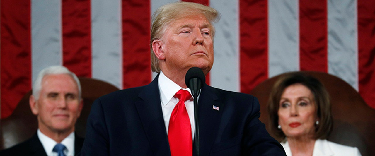 Trump takes on 'radical left' in defiant and dramatic address with several surprising moments