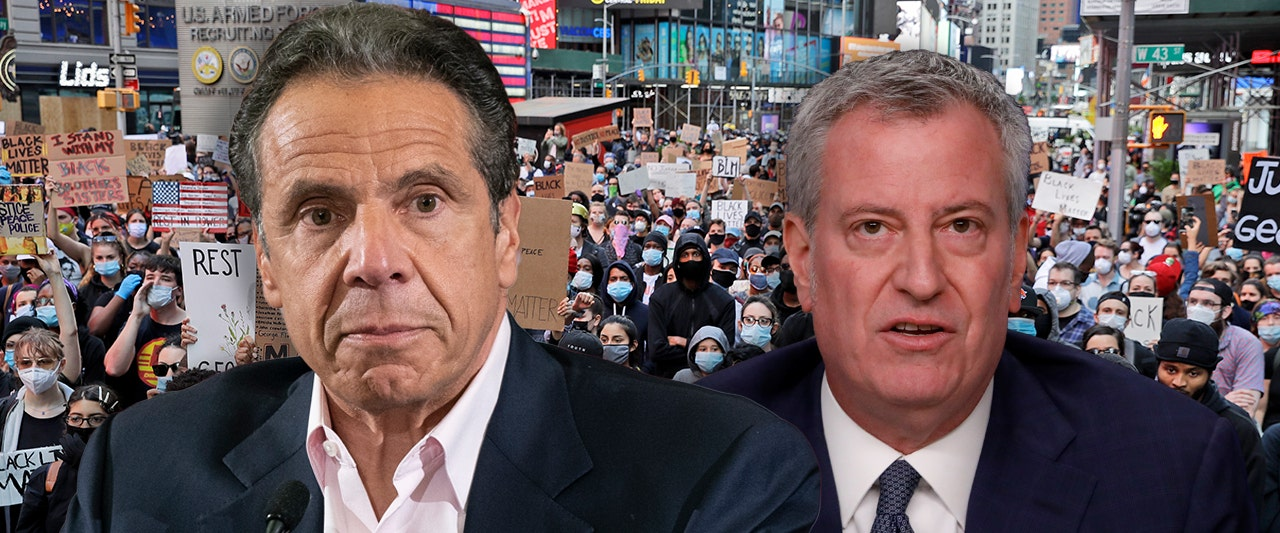 NYPD union says feud between Cuomo, de Blasio 'putting police officers in danger' amid riots