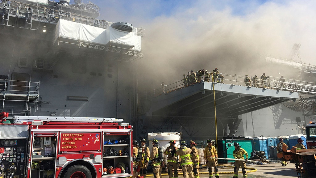 Navy ID's possible cause of fire on ship, updates sailors' health