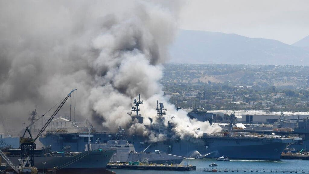 21 injured after explosion, fire on USS Bonhomme Richard in San Diego