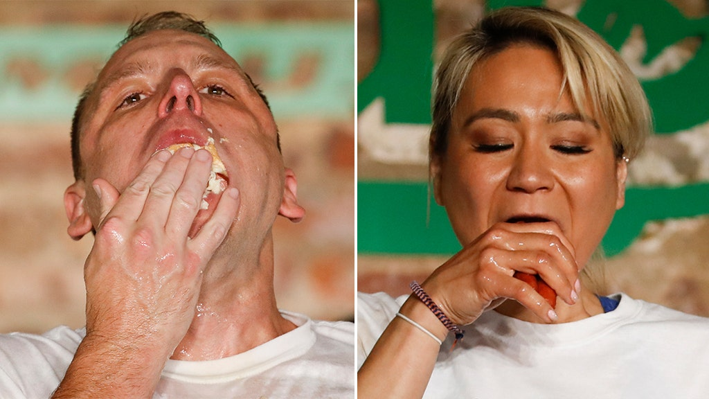 Defending champs dominate unusual looking hot dog contest