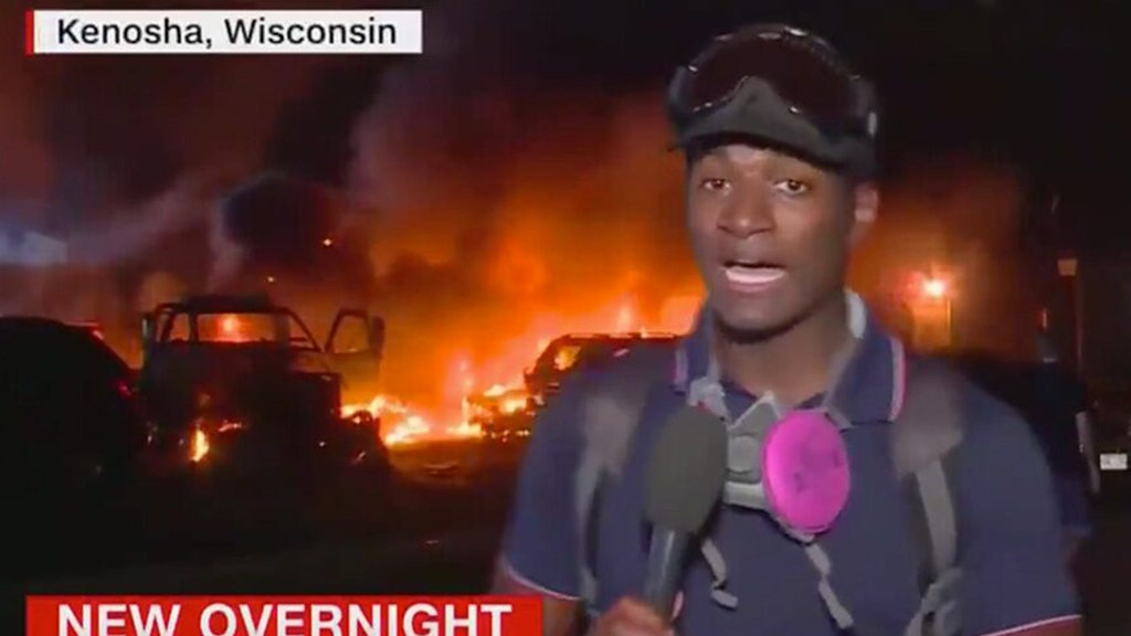 CNN mocked for coverage of violent riots, arson in Kenosha, Wis.