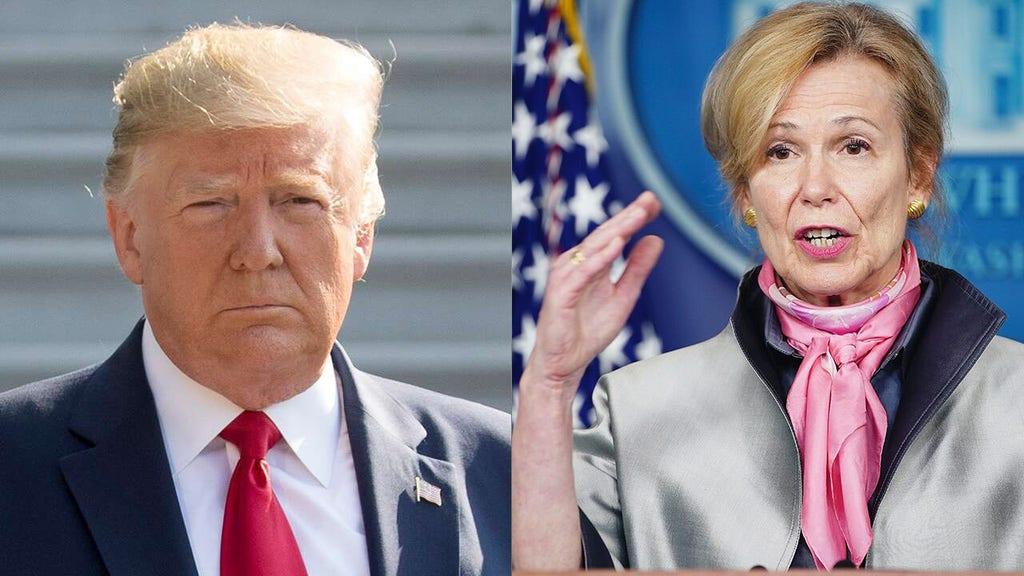 Trump says Birx 'hit us' due to 'horrible' Pelosi comments