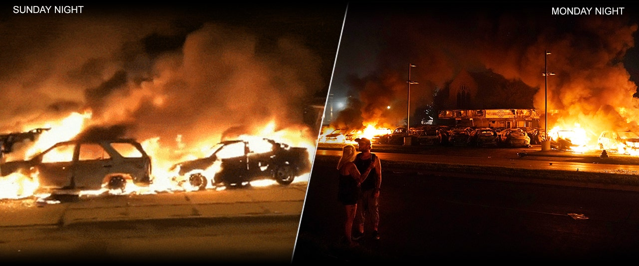 Wisconsin rioters target another car dealership, other businesses in second night of violent unrest